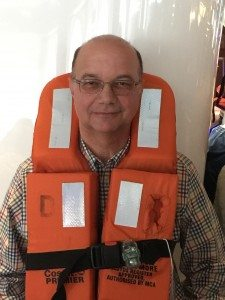 Hans Stieger bei der Rettungsübung auf der MSC Fantasia (Bild www.blog-kreuzfahrt.ch)