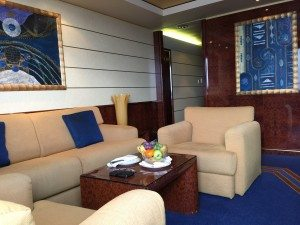 Royal Suite im Yacht Club der MSC Fantasia (Bild www.blog-kreuzfahrt.ch)
