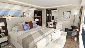 Suite auf den geplanten Luxus-Flusskreuzfahrtschiffen von Crystal Rivers Cruises (Bild Aviation & Tourism)