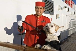 Dog Master auf der Queen Mary 2 (Bild Cunard Line)