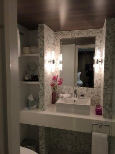 Schon fast luxuriös das Bad auf der Amadeus Silver 2 (Bild Stieger)