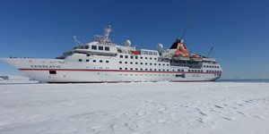 Die MS Hanseatic in Snow Hill (Bild Gemperle)