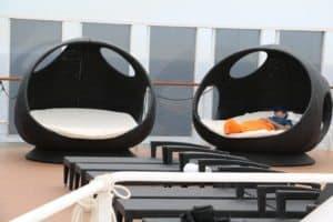 Hier herrscht völlig Ruhe: Das Top 12 Sonnendeck (Bild Stieger)