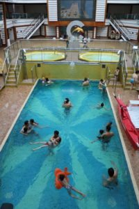 Die Favolosa verfügt über 4 Pools (Bild Stieger)