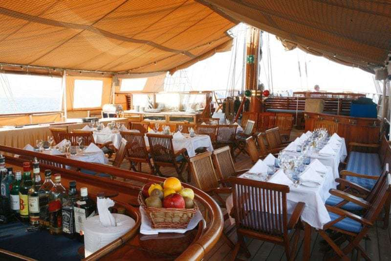 Restaurant auf der Sea Cloud (Bild Sea Cloud Cruises)