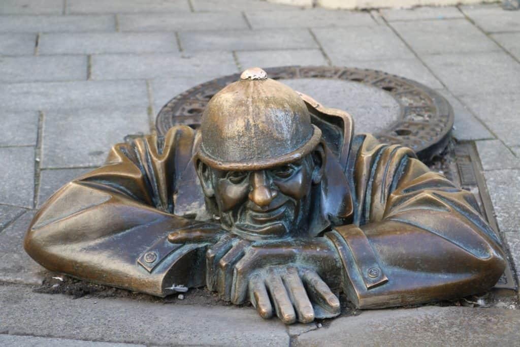 """Der berühmteste Kanalarbeiter der Welt """"wohnt"""" in Bratislava"""