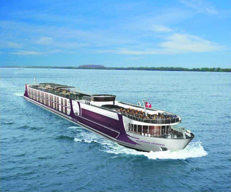 Excellence Flusskreuzfahrtschiffe ab 2019 mit kostenlosem WiFi