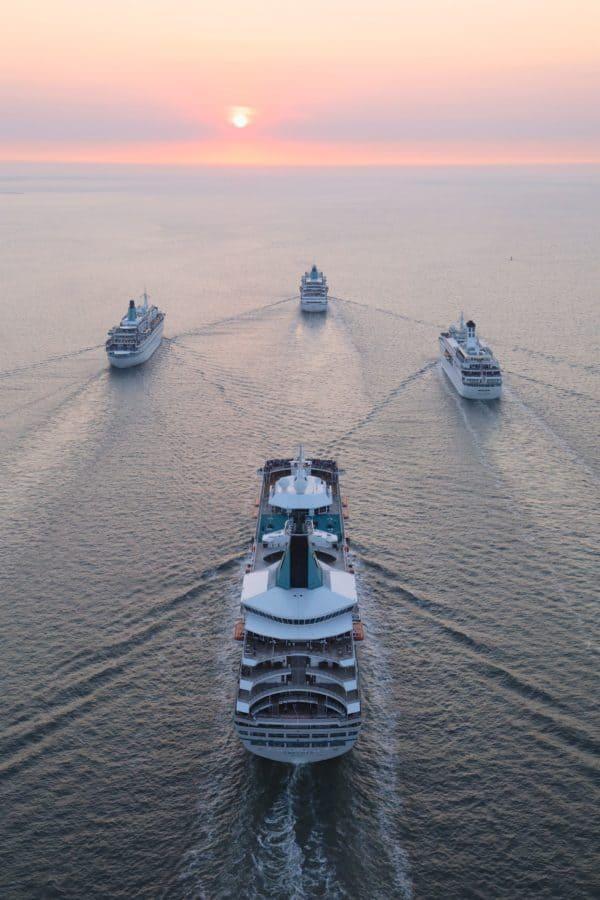 Flottentreffen von MS Amadea, Deutschland, Artania und Albatros