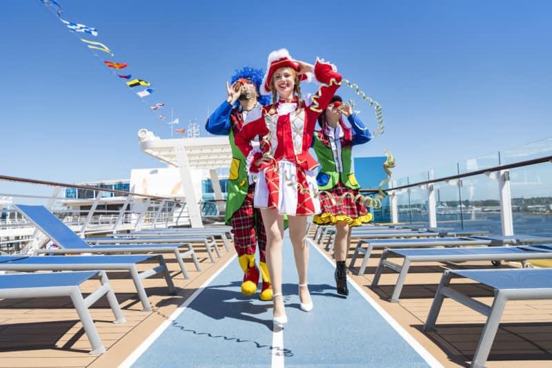 Karneval trifft auf Urlaubsfeeling im Mittelmeer – Mein Schiff 6 wird zum Jeckliner