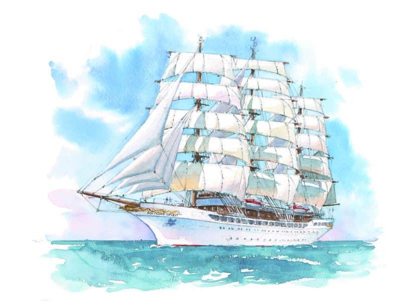 Sea Cloud Spirit setzt ab 2020 neue Massstäbe im luxuriösen Segelkreuzfahrtmarkt