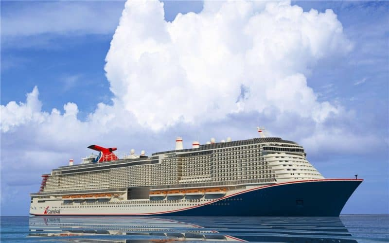 Neuer Gas-Antrieb und neuer Look für Carnivals neues Schiff