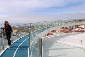 Die 438 Meter lange Laufstrecke auf der Mein Schiff 2 (Bild Stieger)