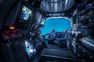 Blick ins Innere des U-Bootes mit dem die Passagiere der Scenic Eclipse die Unterwasserwelt erkunden können (Bild Scenic Cruises)