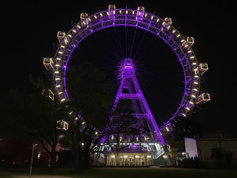 Ein Muss bei jedem Wien Besuch: Das Riesenrad (Bild Stieger)