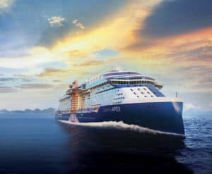 Im Frühjahr 2020 startet die Celebrity Apex zur Jungfernfahrt (Foto Celebrity Cruises)
