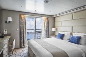 Die elegante neue Farbgebung der Suiten auf der Silver Shadow ist inspiriert durch das Design der Silver Muse (Foto Silversea Cruises)