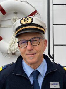 Roger Maurer, Kapitän vom Dampfschiff Stadt Luzern (Foto SGV)